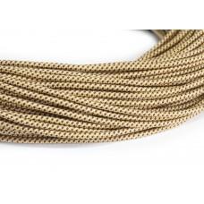 Провод в тканевой оплетке золото с коричневым