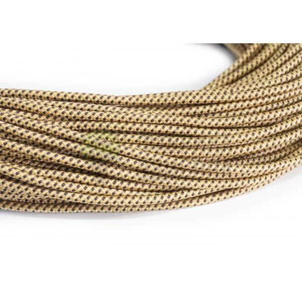 Провід в тканинної оплітці золото з коричневим