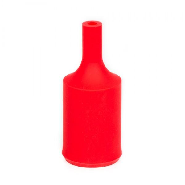 Патрон силиконовый красный Е27