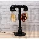 Настільна лампа з труб Peselo Black