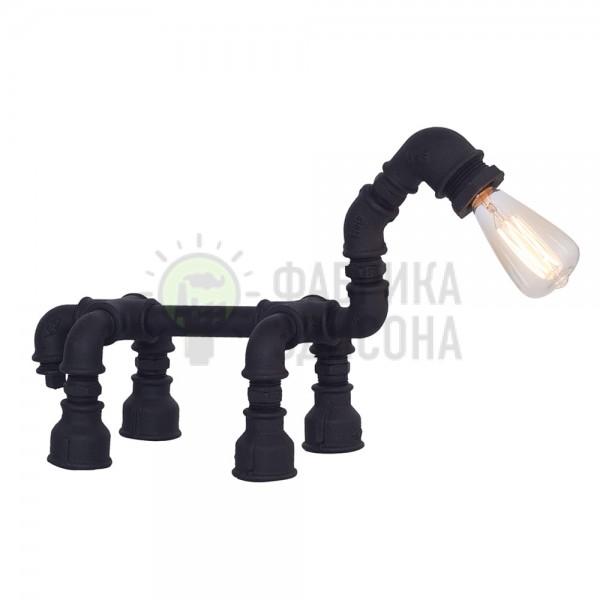 Настільна лампа з труб Horse Black
